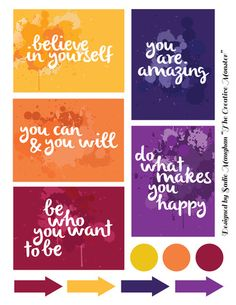 Free Motivational Quotes Filler Cards for Project Life from The Creative Monster