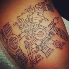 Mexica aztlan anahuak chicomostoc on pinterest aztec for Aztec mural tattoos
