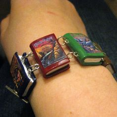 Yes please! Harry Potter Book Charm Bracelet.