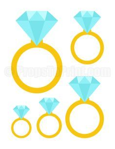 Printable diamond ring photo booth prop. Create DIY props with our free PDF template at http://propstoprint.com/download/diamond-ring-photo-booth-prop/