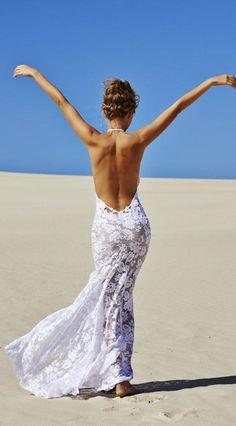 Simples robes de mariée de plage pour 2016 Plage Mariages