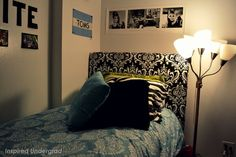 Make your dorm bedroom stand out from all the others with this #DIY #Headboard || inspiredundergrad.weebly.com