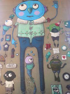 Se um dia estiver triste, observe alguma arte de Presto, que é harmônica, divertida e com personagens marcantes. Quando criança, o paulistano colecionava quadrinhos, construía brinquedos e imaginava criaturas, agora pintadas nos muros.