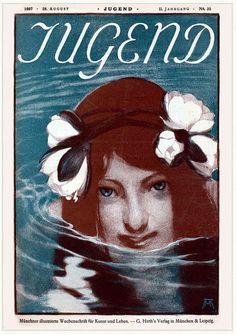 art of the beautiful-grotesque: Jugend : Various Artists Art And Illustration, Illustrations Posters, Art Nouveau, Jugendstil Design, Tarot, Magazine Art, Magazine Covers, Famous Art, Art Graphique