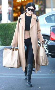 Kylie Jenner looks fierce doing some grocery shopping!