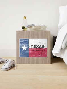 """""""Rustic Texas Flag Y'all"""" Sticker by EmblemThreads 