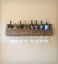 Salvaged Wood Wine Rack, 8 Bottle