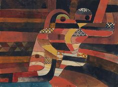 "Paul Klee ""The Lovers"" (1920) gouache and graphite on paper 24.8 x 40.6 cm"
