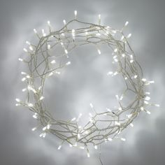 100 white led fairy lights on clear cable indoor use