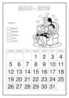 Calendário 2019 - Turma da Mônica Professor, Education, School, 1, Calendar Templates, School Calendar, Cursive, Day Planners, Lyrics