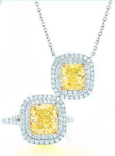 Stunning fancy #yellow #diamonds