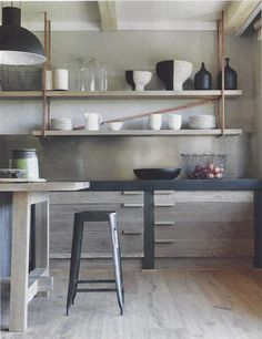 kitchen as art, like living in a modern painting.