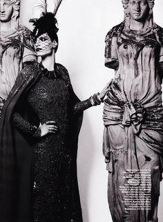 Iris Strubegger in Alexander McQueen  Lensed by Karl Lagerfeld