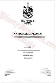University of south africa unisa fake diploma sample from fake diploma degree transcripts certificates samples from africa college and university yelopaper Choice Image
