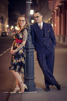 Mia looks amazing in the Trashy Diva 1940's dress in Big Band Bows while teaching swing dancing in Slovenia with her partner, Peter Loggins!
