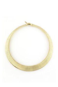 BCBG MaxAzria Collar dorado, Celeste