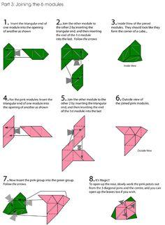 Tutorial Origami Rose Cube