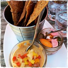 Boxwood Hummus and Pickled Veggies Lentil Hummus, Roasted Peppers, House Made, Lentils, Chocolate Fondue, Starters, Crackers, Pickles, Foodies