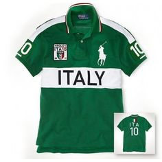 Newest Ralph Lauren Big Pony ITALY Symbol Green Sporty Polo http://www.
