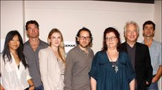 Hettienne Park, Jerry O'Connell, Lily Rabe, director Sam Gold, writer Theresa Rebeck, Alan Rickman and Hamish Linklater