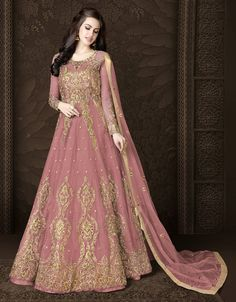 Shopping online indian style bridal bollywood style anarkali gown shopping in usa bridesmaid boutique Party Wear Gowns Online, Party Wear Dresses, Maxi Dresses, Anarkali Gown, Lehenga Choli, Silk Dupatta, Indian Designer Outfits, Designer Gowns, Designer Wear