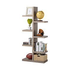 This uniquely shaped Homestar bookcase is a contemporary piece with an eye-catching design. The design looks great from any angle and it is the perfect place to spotlight your collectibles or display those favorite books. Sturdily constructed, the Homestar storage bookcase is a great addition for your home.