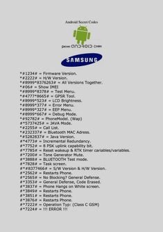 Here's list of best and must have Samsung Mobile Secrete Codes that you can use on your phone.Cell Phone Tips And Tricks For Novicesentered through the phonebook dialer. These codes are brandWatch margareth siagian video online on the best site here Android Phone Hacks, Cell Phone Hacks, Smartphone Hacks, Iphone Hacks, Android Secret Codes, Android Codes, Life Hacks Computer, Computer Basics, Computer Science