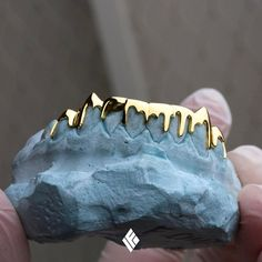 Solid 14K Gold Drip Grill. Completely customizable to your liking. Now available at www.IFANDCO.com! #Grillz #CustomJewelry #IFANDCO