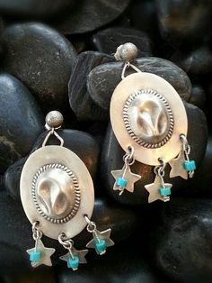 These fun Cowboy Hat Earrings are available.