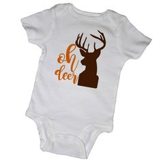 OH DEER BABY Bodysuits, Baby Shower, Country, Cowgirl, Horse, Newborn, Toddler, Infant, Children, Party Favor, Twins by EmbryLu on Etsy