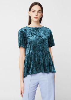Velvet blouse - Women | MANGO USA