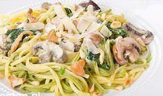 Pasta met Boursin en spinazie