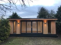 Brand new gorgeous and useful garden room for the New Year for our client in Nottingham :) Backyard Gym, Nottingham, Home And Garden, Photo And Video, Offices, Outdoor Decor, House, Rooms, Inspiration