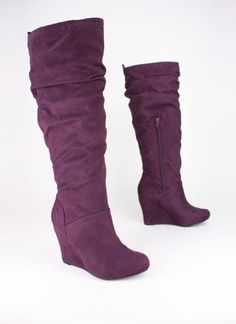 Purple Slouch Boots
