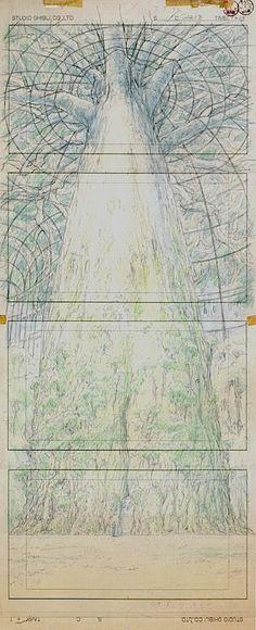 Film: Castle In The Sky ===== Layout Design: The Structure Of Laputa ===== Production Company: Studio Ghibli ===== Director: Hayao Miyazaki ===== Producer: Isao Takahata ===== Written by: Hayao Miyazaki ===== Distributed by: Toei Company