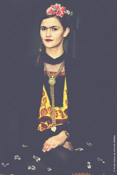 Frida Kahlo vue par le photographe Sylvia Borel. Model : Elsa Greselle