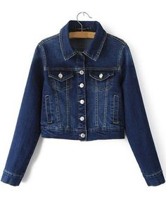 Best fashion just in, Classic Point Col... is available now, click the link http://modatendone.co.uk/products/classic-point-collar-denim-cropped-jacket-with-button-closure-dark-blue?utm_campaign=social_autopilot&utm_source=pin&utm_medium=pin don't miss out our amazing collections!
