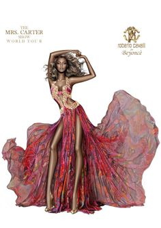 Roberto Cavalli sketch for Beyoncé Knowles.