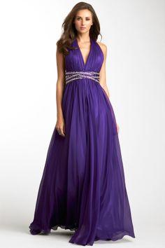 Pleated Goddess Gown on HauteLook