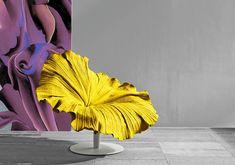 hand-stitched microfiber flower chairs by furniture designer Kenneth Cobonpue #flowers #art #decor
