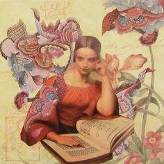 Studying You by Kanchan Mahon - Collage