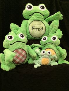 Fred the Frog and Family ITH Machine by NonnieNooCreations