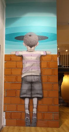 "Seth Globepainter (Julien Malland) - ""Walking on a dream"" - Galerie Itinerrance, Paris, France 
