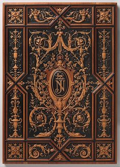 Book or album cover Henry-Auguste Fourdinois Date: 1875 Culture: French (Paris) Medium: Ebony and boxwood, pear and other fruit wood
