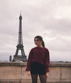 Woman in Red Long Sleeve Shirt Standing Near Eiffel Tower · Free Stock Photo Photography Photos, Nature Photography, Travel Photography, Photographer Pictures, Free Photography, Hollywood Songs, Red Long Sleeve Shirt, Paris Travel, Cool Photos