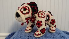 Ravelry: Project Gallery for Max the African Flower Bulldog Crochet Pattern pattern by Heidi Bears