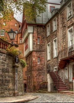 On a brisk autumn walk the photographer Brian Furbush discovered Ramsay Gardens; a block of sixteen private apartment buildings in the Castlehill area of Edinburgh.  (detail)