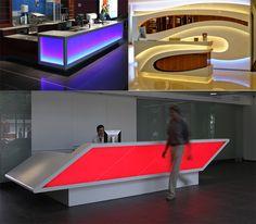 led lighting decoration reception counter