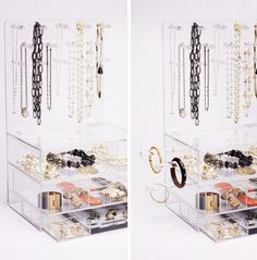 GLAMBoxes - great acrylic organizers to keep your jewelry and baubles organized