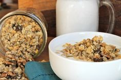 Banana Maple Cashew Granola
